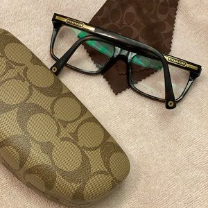COACH glasses / glass case / cleaning cloth